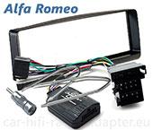 Alfa 156 2000 - 2001 Lenkrad Adapter, Radioblende schwarz, Antennenadapter