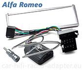Alfa 156 2001 - 2007 Lenkrad Adapter, Radioblende silber, Antennenadapter