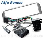 Alfa GT ab 2003 Lenkrad Adapter, Radioblende silber, Antennenadapter