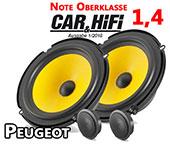 Peugeot 307 Oberklasse Auto Lautsprecher vordere Türen C1 650