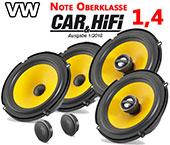 VW Beetle Auto-Lautsprecher-Set Einbauplätze vorne hinten C1 650 650x