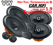 VW Beetle Auto-Lautsprecher, Autoboxen vorne hinten DSK1653 DCX165