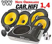 VW Beetle Autoboxen Auto-Lautsprecher-Set +Aktivbass C1 650