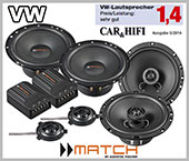 VW Bora car speaker upgrade front and rear doors loudspeakers