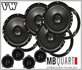 VW Bora car speakers upgrade kit front - rear doors MB Quart