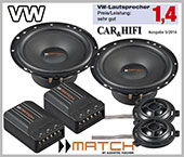 VW Bora car speakers upgrade kit front doors loudspeaker
