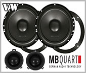 VW Fox car speakers front doors loudspeaker MB Quart
