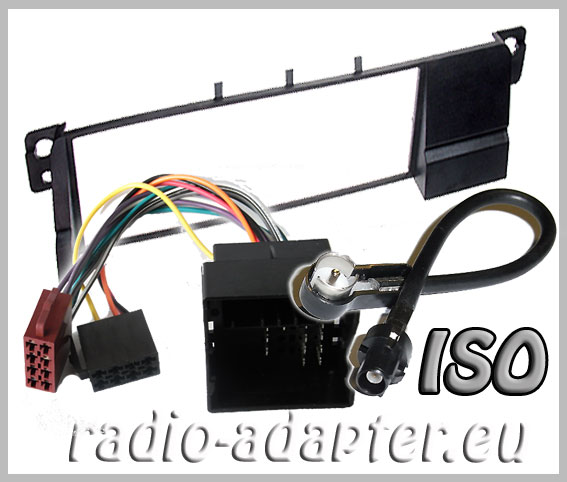 bmw e46 radio dash kit iso aerial adaptor iso harness. Black Bedroom Furniture Sets. Home Design Ideas
