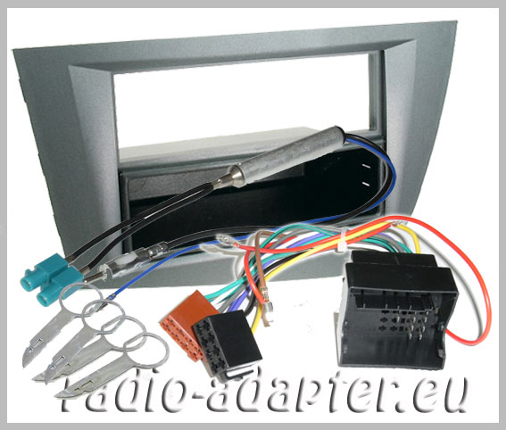 seat leon radio dash kit silver car radio installation. Black Bedroom Furniture Sets. Home Design Ideas