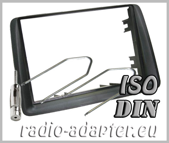 fiat panda radio dash kit iso 2 din fascia harness. Black Bedroom Furniture Sets. Home Design Ideas