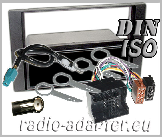61882set 6 ford c max radio dash kit anthrazite aerial adaptor iso Ford F-150 Radio Wiring Coloring at eliteediting.co