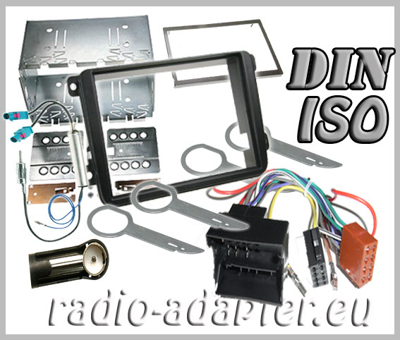 vw golf v radio dash kit double din, car radio installation kit