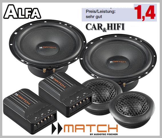 Alfa Romeo 159 Car Speakers Front Doors Loudspeaker Car