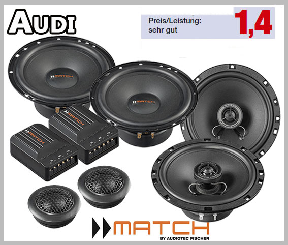 Audi A3 8p 3 Door Car Speakers Upgrade Kit For Front And