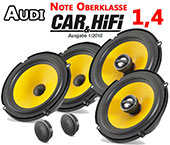 Audi A3 8P 3-door car speakers upgrade kit front and rear seat side