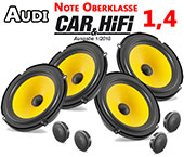 Audi A3 8PA Sportback Car Speaker Upgrade Pack Front Rear With Brackets