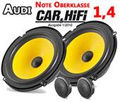 Audi TT 8N Pair Front Door Speaker Upperclass High Quality Kit