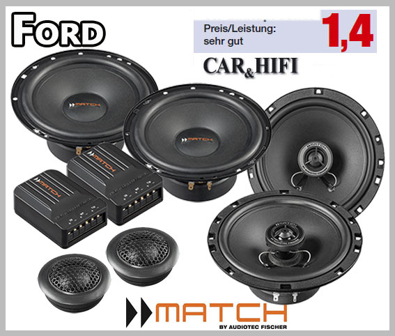 Ford Fiesta Mk6 Car Speaker Upgrade Kit Front Rear 2001