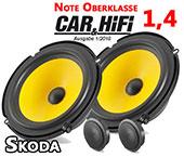Skoda Octavia II Car Speaker Upgrade Front Door With Adaptor Pods