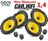 VW Golf VI Car Speaker Upgrade Pack Front Rear With Brackets