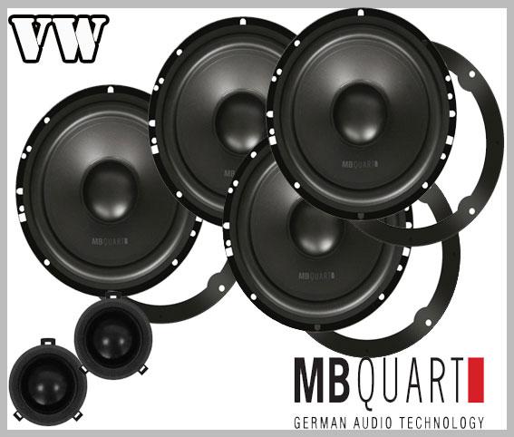 vw new beetle car speaker upgrade kit front and rear speakers car hifi radio. Black Bedroom Furniture Sets. Home Design Ideas