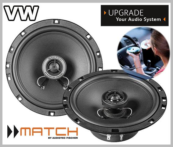 VW Passat B6 car speakers upgrade loudspeaker kit front door