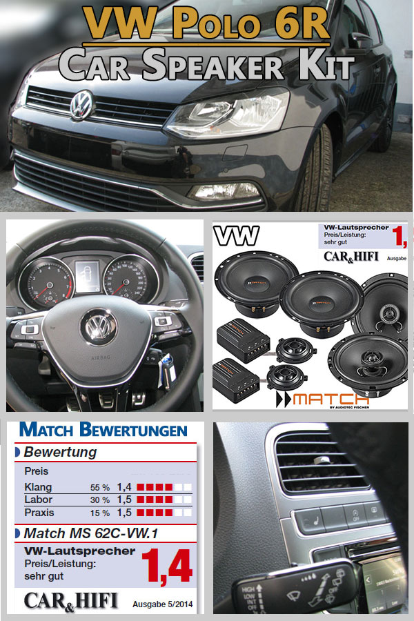 Vw Polo V 6r Car Speakers German Winner Upgrade Kit Front