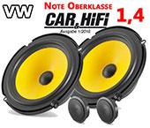 VW Polo 6R speaker pack upperclass upgrade kit front doors