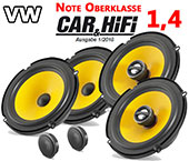 VW Polo V 6R car speakers uperclass upgrade kit front - rear seat side