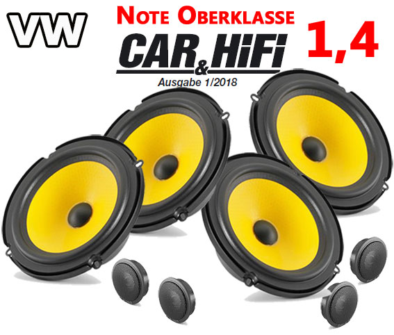 1T 2003-2014 JVC Auto Front Lautsprecher-Set für VW Touran 1