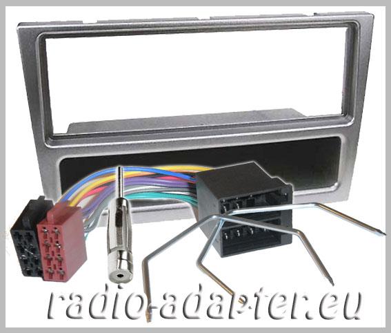 opel corsa c sport ab 2001 radioblende silber autoradio einbauset car hifi radio. Black Bedroom Furniture Sets. Home Design Ideas