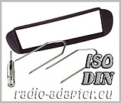Fiat Barchetta radio dash kit ISO, fascia + harness + aerial adaptor