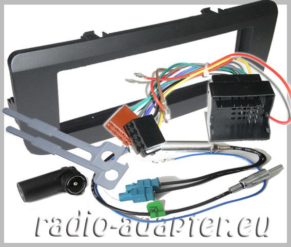 skoda fabia ii ab 2007 radioblende radioadapter din. Black Bedroom Furniture Sets. Home Design Ideas