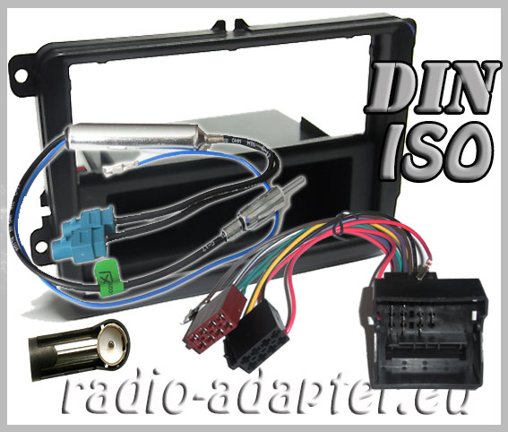 skoda fabia ii radioblende radioadapter 1 din autoradio. Black Bedroom Furniture Sets. Home Design Ideas