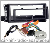 Dodge RAM 1500 2009-2011 Autoradio Blenden Set für 1 DIN Radios