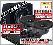VW, Volkswagen Polo V 6R Helix Car Speakers + Amplifier + Subwoofer