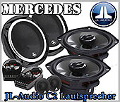 Mercedes C240, C280 T-Modelle Kombi Lautsprecher JL-Audio C2-650,525x Set