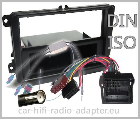 Vw Passat B6 3c Cc Autoradio Einbauset Radioeinbauset Mit Antennen