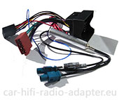 VW Sharan mit Delta6 Radio Radioadapter, Antennenadapter